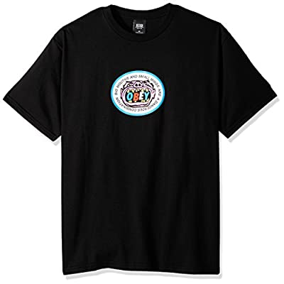 OBEY Men's Big Mouths and Small Minds Regular Fit Basic T-Shirt for sale