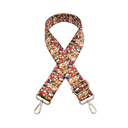 Purse Strap Replacement Guitar Style Multicolor Canvas Crossbody Strap for Handbags (33#)