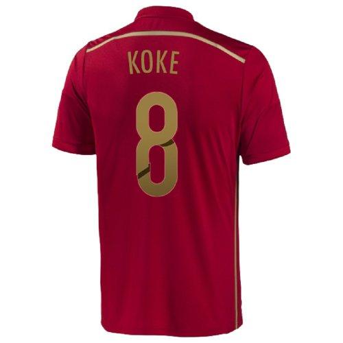 超えるリンクほとんどの場合Adidas Koke #8 Home Spain Home Jersey World Cup 2014/サッカーユニフォーム スペイン ホーム用 ワールドカップ2014 背番号8 コケ