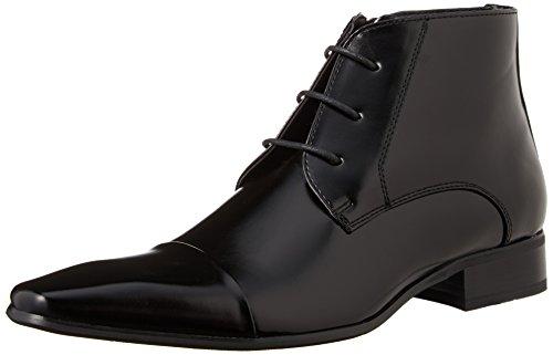 MM/ONE Oxford Shoes Shoes Short Boots Oxford Shoes Boots Men's Shoes Foam Insole Lace-up Longnose Fake Cap toe Black 43 EU (US Men's 10 M) by MM/ONE
