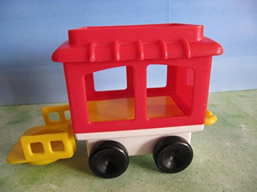 FISHER PRICE CHUNKY LITTLE PEOPLE CIRCUS TRAIN REPLACEMENT RED CABOOSE ONLY (Circus Caboose)