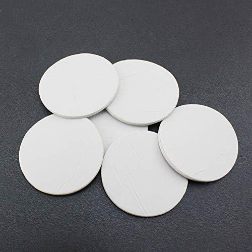 interjunzhan Useful Car Windshield Dashboard Toy Double Sided Adhesive Pads Round Tape(10Pcs) White