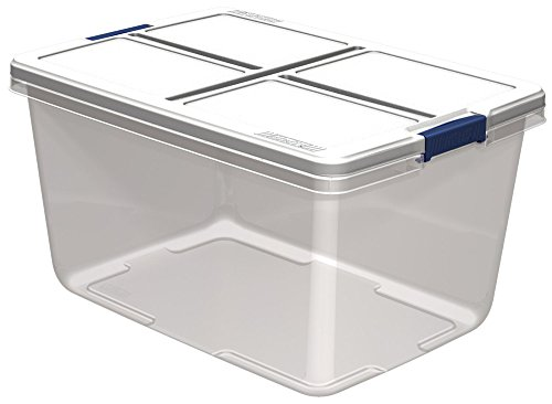 Hefty Storage Container (Set of 6), 66 quart, Clear