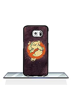 Creative Ghostbusters logo Samsung Galaxy S6 Phone Funda Case Hard Plastic + Protective Film Around Your Phone Protect Your Phone From Damdage