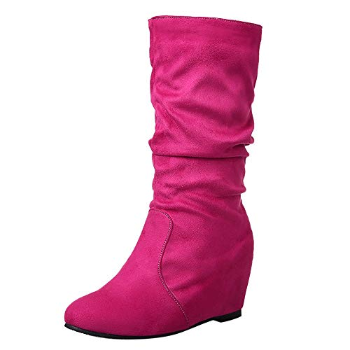 HYIRI Classic Flat Ankle Boots,Women European Retro Increase Round Toe Shoes