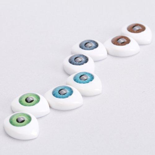 4 8pcs Color De Ojos De Pl/ástico Espalda Huecos Ovalados Para M/áscara Mu/ñeca 10mm Bricolaje