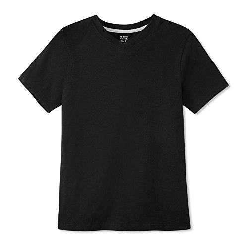 Black Kids T-shirt - French Toast Boys' Little Short Sleeve V-Neck Tee, Black, 5