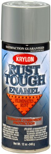 Krylon K09213007 'Rust Tough' Aluminum Rust Preventive Enamel - 12 oz. Aerosol (Furniture Best Paint For Outdoor Aluminum)