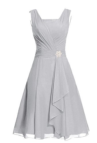 Dress Square Dress Silver Party Women's M290LF MaliaDress Chiffon Bridesmaid FZn5Ixnwq
