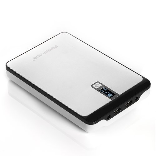 Poweradd Pilot Pro 32000mAh Power Bank Dual USB Port 4.5A (9V-20V DC Output) with Digital LCD Display for Smartphones, Tablets, Pocket PC, Notebook, Chromebook, Macbook and More by Poweradd