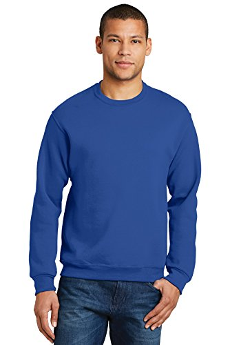 JZ 8 OZ 50/50 CREWNECK, ROYAL, 3XL Blue Youth Fleece Crewneck Sweatshirt