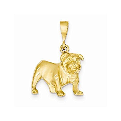 14k Bulldog Pendant, Best Quality Free Gift Box