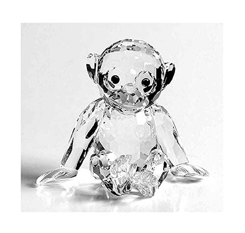 Swarovski Silver Crystal Figurine CHIMPANZEE 221625 NEW Retired