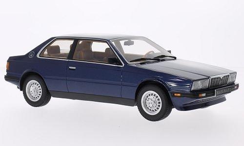 Maserati Biturbo Coupe, metallic-blau, 1982, Modellauto, Fertigmodell, Minichamps 1:18