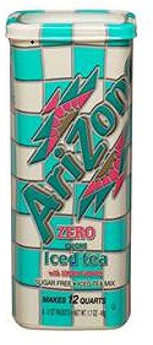 AriZona Sugar Free Lemon Iced Tea Mix, Each Tub Makes 2 Quar