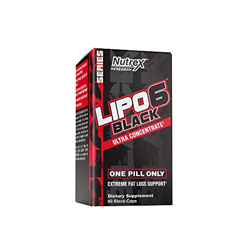 - Nutrex Research Lipo-6 Black Ultra Concentrate | Thermogenic Energizing Fat Burner Supplement, Increase Weight Loss, Energy & Intense Focus | 60Count