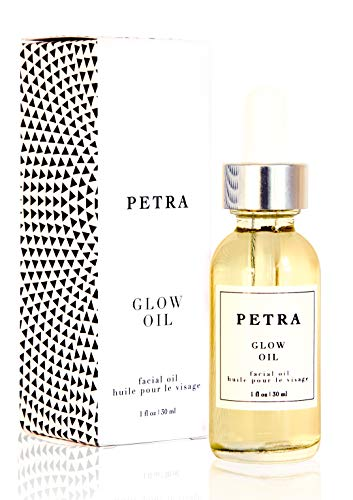 PETRADERMA Glow Oil | Natural Organic Face Oil | The World's Most Nutrient Rich Mixture of Botanical and Essential Anti Aging Face Oils | Dewy Glowing Skin | Non-Comedogenic Face Moisturizer |
