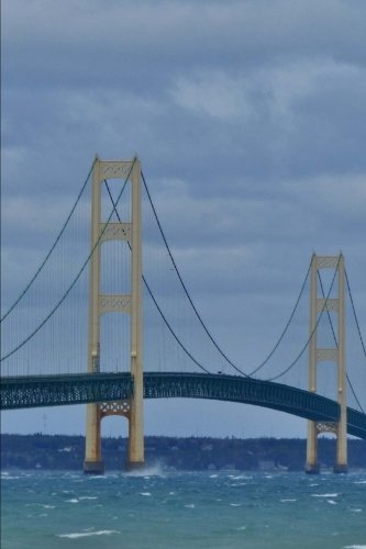 A Cool View of Historic Mackinac Suspension Bridge Michigan USA Journal: 150 Page Lined Notebook/Diary