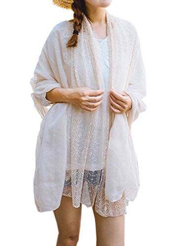 Women's Boho Bohemian Soft Blanket Oversized Fringed Scarf Wraps Shawl Sheer Gift (19)