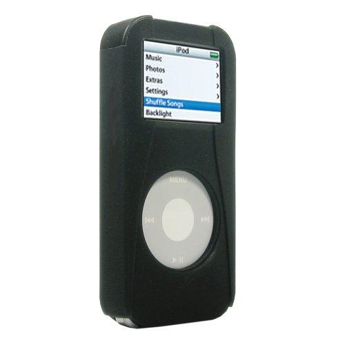 Speck Ipod Nano Case - Speck SkinTight Single Case with Holster for iPod nano 1G (Black)