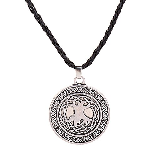 Gbell Clearance ! Vintage Viking Animal Necklaces for Teen Boys Men Jewelry Gifts, Supernatural Amulet Knot Neck Chain Pendant Necklace,45CM (C)