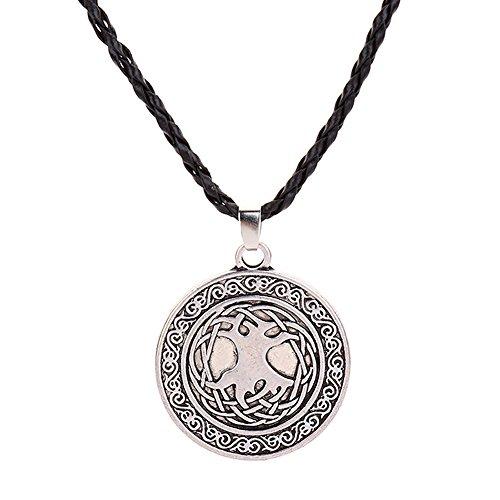 (FEDULK Classic Retro Necklace Animal Shape Teenagers Viking Fashion Individuality Jewelry Pendant(C))
