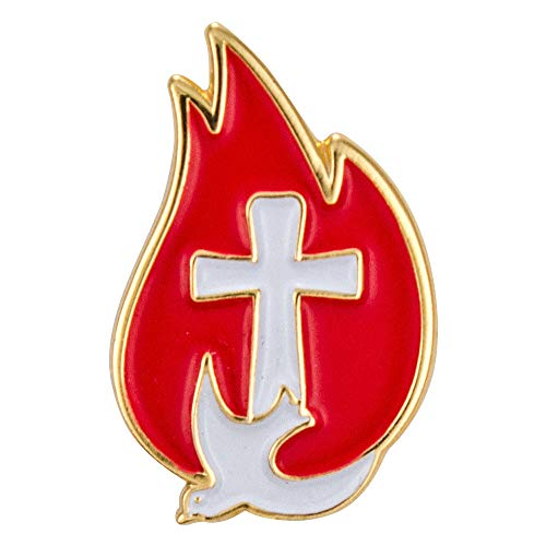 Sterling Gifts Cross & Dove Water Confirmtion Lapel Pins, Gold Set of 8 Pins -