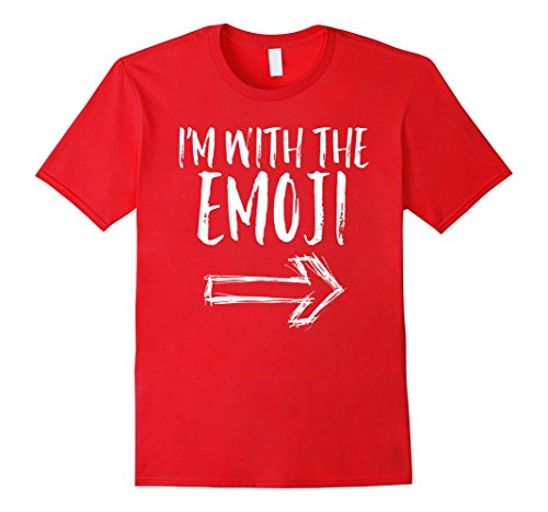 Mens I'm With The Emoji Funny Quick Cute Halloween Costume Shirt Medium Red