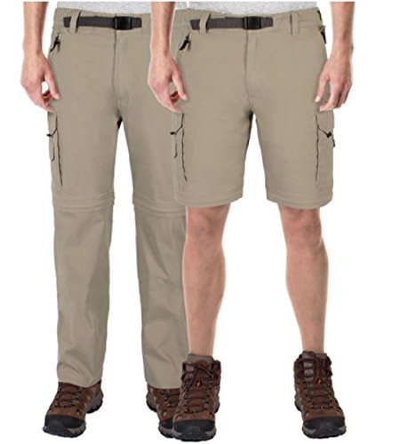 BC Clothing Mens Convertible Cargo Pant with Stretch, Rel...