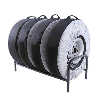 Soporte para Neumáticos Sujeción de 4 Ruedas Estante: Amazon.es: Coche y moto