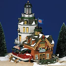 SNOW VILLAGE CANDLEROCK LIGHTHOUSE RESTAURANT by Department 56