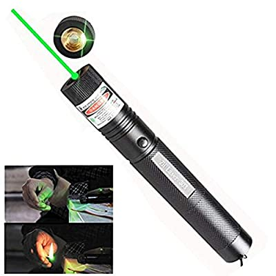 Best 6 Patterns Green Laser Pointer High Power Hunting Rifle Scope Sight Laser Pen, Remote Laser Pointer Travel Outdoor Tactical Flashlights, LED Interactive Baton Funny Laser Pointer Toys for Cats/Do