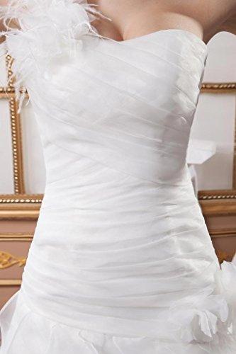 Elegant 1 Design GEORGE BRIDE Neu Elfenbein Brautkleid Schulter Organza n7Rf6