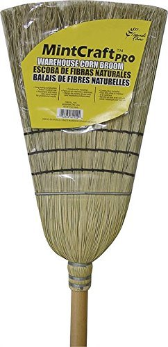 CleanX 502X Heavy Duty Indoor/Outdoor Corn Broom, 42 Inch Handle Length, Tan - 100% Corn Broom