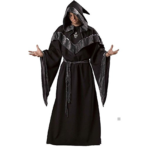 Deville Coat Cruella Costume (Wizard Costume Adult Medieval Sorcerer Halloween Fancy)