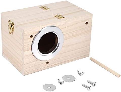 木製の鳥の家ペットの鳥の飼育のための温かい孵化の飼育箱家庭の屋外のための使用12x12x19.5cm