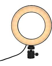 Lampa pierścieniowa do selfie ze stojakiem i uchwytem na telefon, ściemnialny pierścień do selfie z oświetleniem LED do transmisji na żywo, światło wypełniające koło kamery ze statywem, 3 tryby świecenia i 10 poziomów jasności