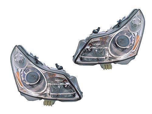 (Headlights For 2007-2008 Infiniti G35 (Sedan, Base, Journey, Sport, X) Pair Assembly Depo IN2502137 IN2503137)