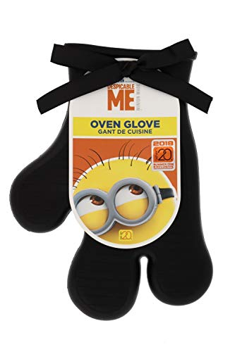 Despicable Me Minion Silicone Oven Glove - Enjoy Fun and Safe Cooking / Baking - Non-Slip Grip for Your Protection - A Novelty Movie-Themed Mitt, Makes a Great Gift - -