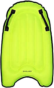 OMOUBOI Outdoor Portable Inflatable Surfboard, Pool Float Mat with Handles Foldable Waterproof Surfing Air Cus