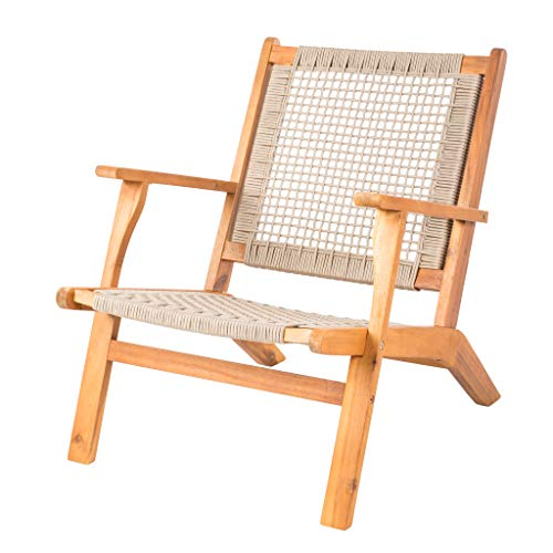 Patio Sense 62773 Vega Natural Patio Chair, (Garden Chair Woven)