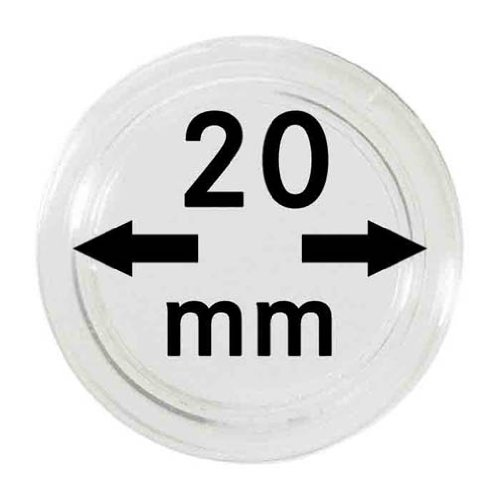 100 x Lindner Coin Capsules Caps Coincapsules for Coins 20 m