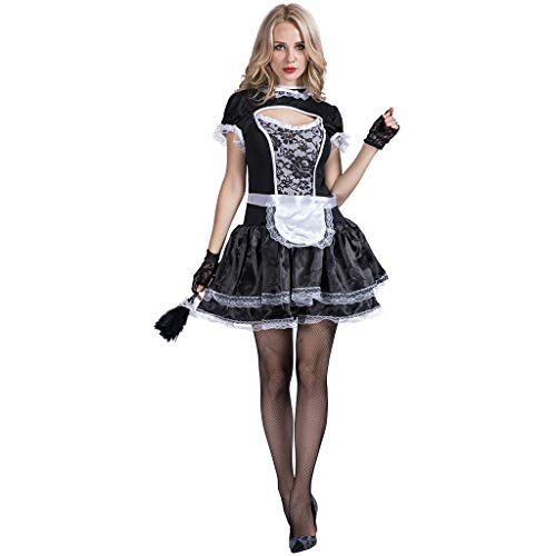 FantastCostumes French Maid Costume Women Glam Maidservant Apron Outfits
