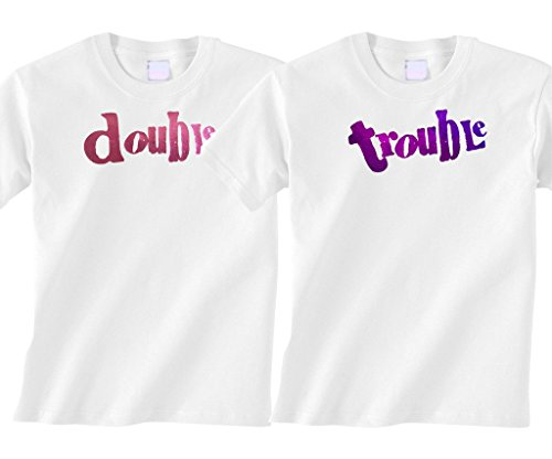 Bebe Bottle Sling- Double Trouble Foil- Pink and Purple foil (Includes 2 White t-Shirts), 2T