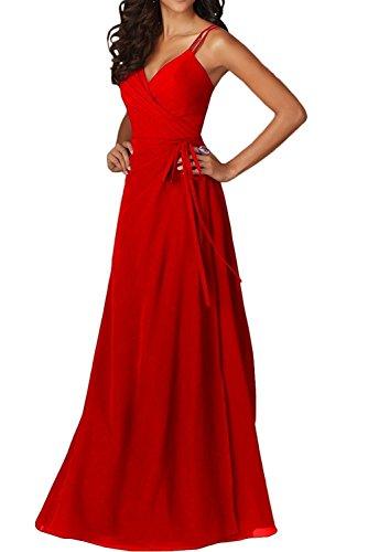Herrlich Lang Linie Chiffon Tanzenkleider Ballkleider Rot Brautjungfernkleider Gruen Partykleider mia Braut Abendkleider A La HUBqEw