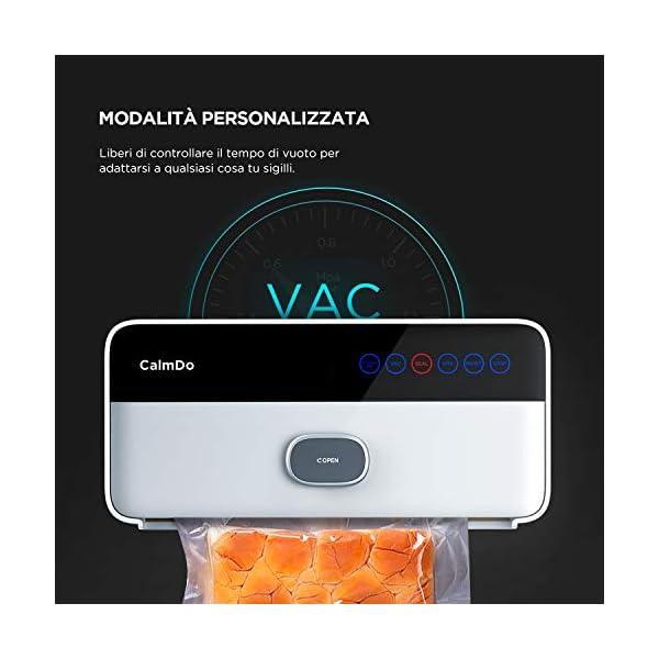 CalmDo CD-V001 Macchina Sottovuoto per Alimenti Automatica, 6 in 1 Sigillatrice Sottovuoto da 120W Secchi e Umidi… 3