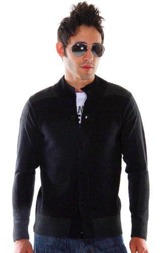 EXUMA Strickjacke slim fit (schwarz)