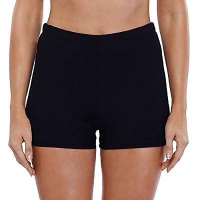 Vegatos Women's Boyshort Swim Bottoms Solid Tankini Swim Shorts Boardshort