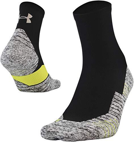 - Under Armour Run Cushion Quarter Socks, 1-Pair, Black, Shoe Size: Mens 8-12, Womens 9-12
