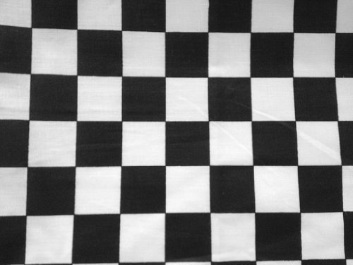 Poly Cotton Print Black Checkered 60 Inch Fabric By the Yard (F.E.)]()
